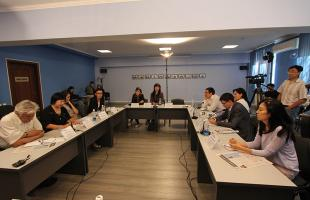 "ON 11 SEPTEMBER 2015, THE ROUND TABLE ""RIGHT TO FREEDOM OF ASSOCIATION AND ASSEMBLY: WARRANTIES AND CHALLENGES BEFORE THE PARLIAMENTARY ELECTIONS"" WAS HELD IN BISHKEK."